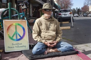 photo by Karen Laslo Lin Jensen is sometimes seen meditating