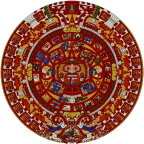 The Aztec calendar was used by pre-Columbian peoples and had 365 days.