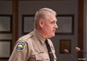 "photo by Karen LasloButte County Sheriff Kory Honea advised the board to use its ""political capital"" on defeating SB54."