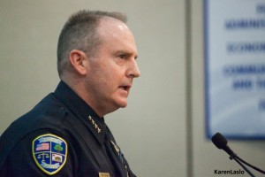 photo by Karen LasloMike O'Brien assumed the chief's post almost two years ago when Dunbaugh left.