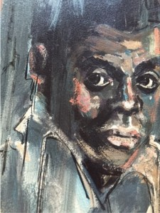 James Baldwin portrait by Gus Bouquet